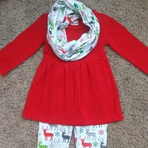 Other - Three-piece Christmas Winter Holiday Outfit, 2t